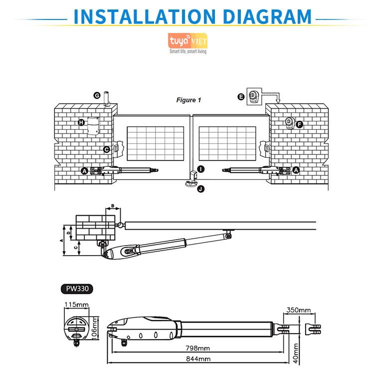 Motor tay don SGD330-Detal 1